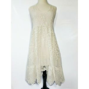 FREE PEOPLE Womens Ivory Lace Dress Size Small 4